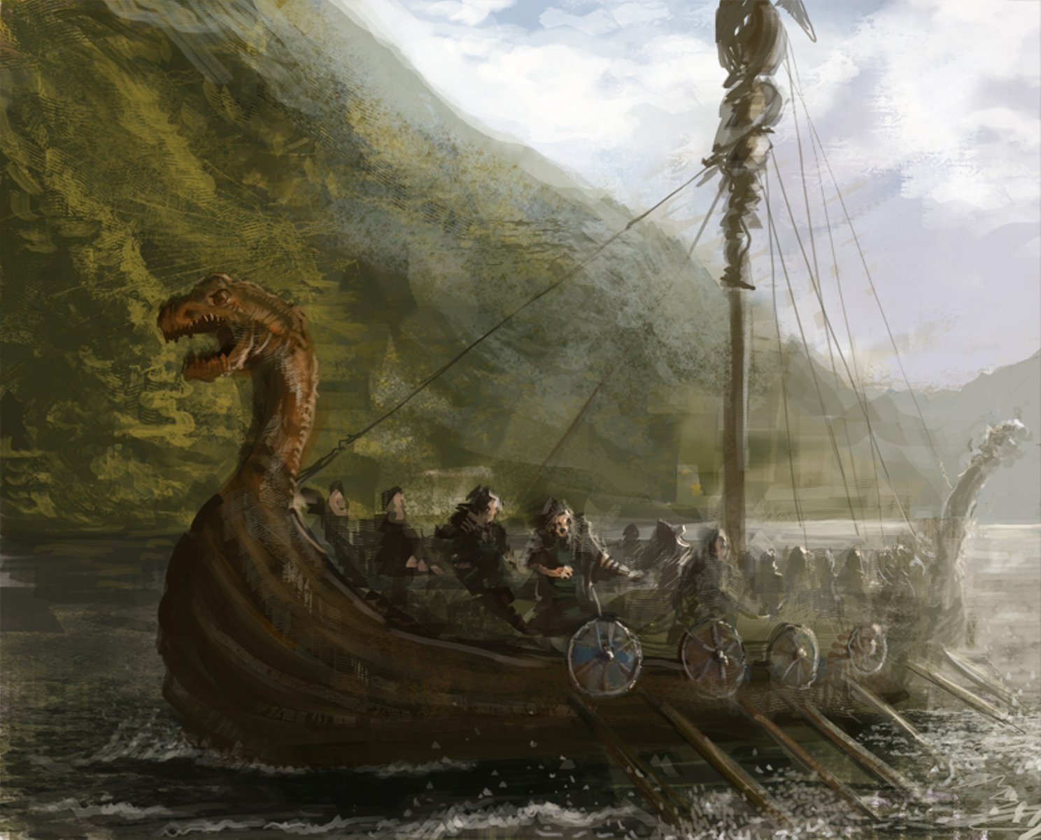 Viking Battle Painting Viking Battle Scene Pa...